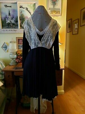 Victorian Trading Co Black Top with Lace straps over shoulders Hopeless Romantic