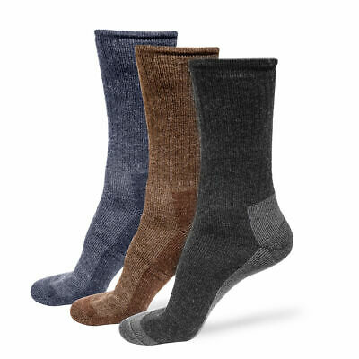 Alpaca Wool Socks 3X Pairs for Men & Women - Thick Outdoors Hiking Boot Casual