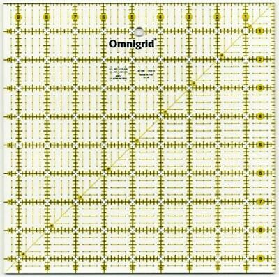 "Omnigrid 9.5"" Square Ultimate Accuracy Ruler #95 w Bold Yellow + Black Art"