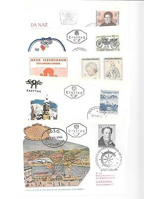AUSTRIA-11 highly attractive/cacheted covers(1964-on) (various topics)