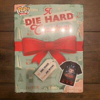 POP! Movies A Die Hard Christmas Funko Pop John McClane Size Medium T-Shirt