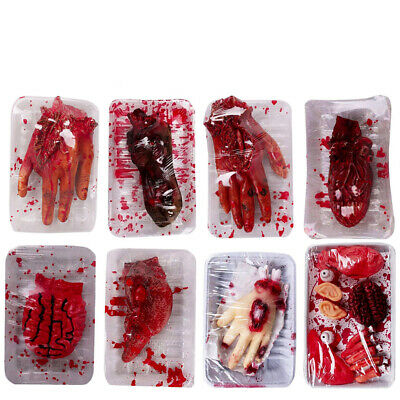 Halloween Horror Props Lifesize Bloody Organ Lunch Box Haunted Night Party Decor