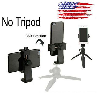 Smartphone Tripod Adapter Cell Phone Holder Mount For iPhone Camera Universal US