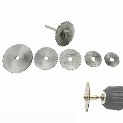 【UK】7Pcs Wheel Cutting Blades 22-50mm HSS Saw Disc For Dremel Drills Rotary Tool