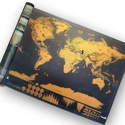 Scratch Off Map World Deluxe Large Travel Poster Travel Atlas Gift【UK】