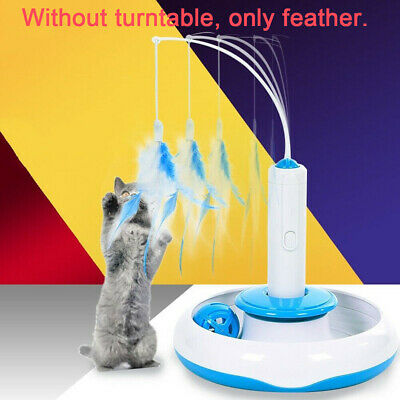 Pet Cat Toys Teaser Interactive Cats Toy Electric Rotating Funny Feather Toys