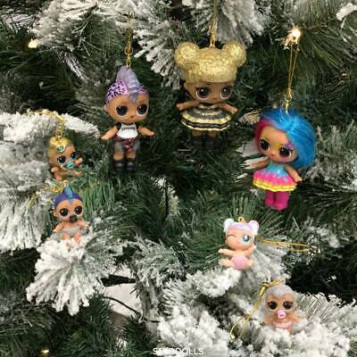 Xmas Tree Hanging Toy Pendant LOL Surprise Glitter Queen Doll Ornament Kids Gift