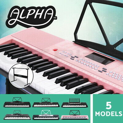 Alpha 61 Keys Electronic Piano Keyboard Portable Electric Holder Music Stand