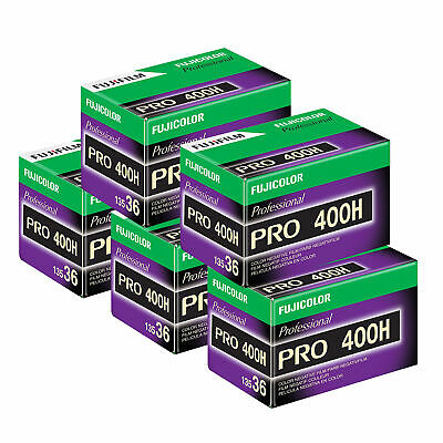 5 x Fuji Fujifilm Pro 400 H Film Pack 135 (36 Exposures)