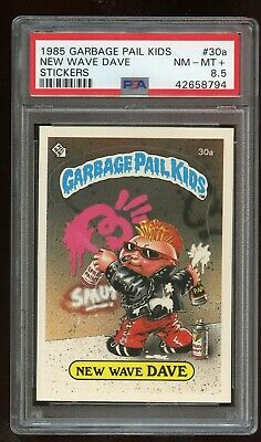 1985 Topps Garbage Pail Kids Series 1 NEW WAVE DAVE #30a Card ***PSA 8.5***