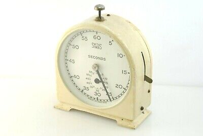 Vintage SMITHS TIMER DARKROOM CLOCK English Clock Systems Ltd Cream Colour