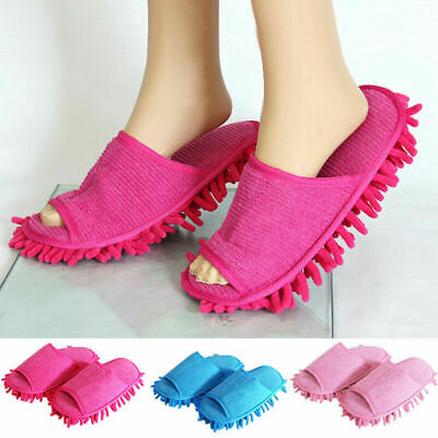 Pair Creative Floor Shoes Mop Slippers Lazy Quick Polishing Cleaning Dust Clean