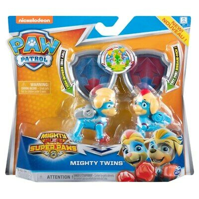 PAW Patrol Mighty Pups Mighty Twins Light Up Figures NEW