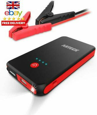 Arteck Car Jump Starter Auto Battery Booster And 8000Mah External Battery Charge