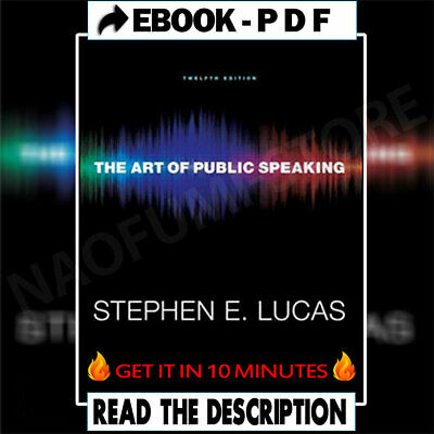 🔥The Art of Public Speaking 12th By Stephen Lucas🔥 [High Quality]  ⚡ 📥