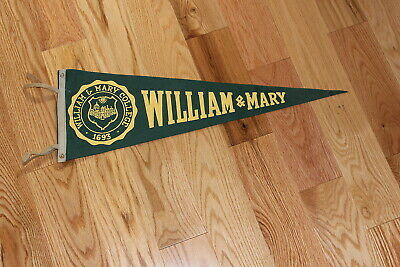 """1950's/60's William & Mary College college soft felt 26"""" pennant"""