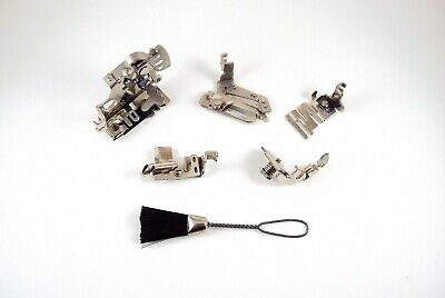 5 Original Singer Featherweight Sewing Machine Attachments With Cleaning Brush