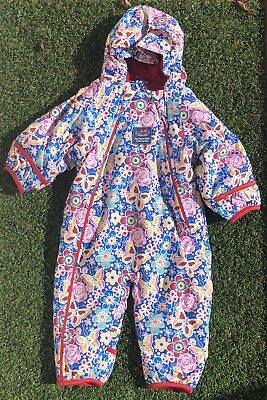 NWT Jojo Maman Bebe Waterproof Fleece All In One Butterfly 6-9 Months