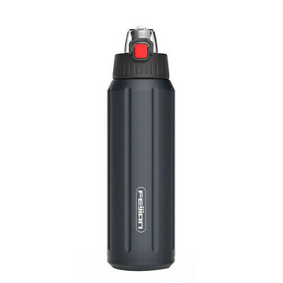 Sports Thermos Water Bottle Stainless Steel Double Walled Vacuum Cup Flask Blue