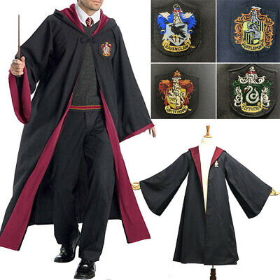 Harry Potter Gryffindor/Hufflepuff/Ravenclaw/Slytherin Cloak Cosplay Costume