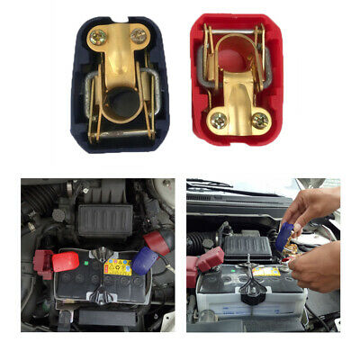 2x Univerisal Car 12V Quick Release Battery Terminals Connector Clamps Removable