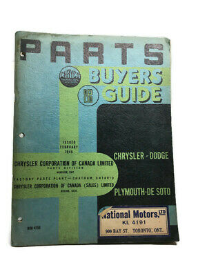 1945 Chrysler-Dodge Plymouth - De Soto 1945 Parts Buyers Guide - 98 Pages