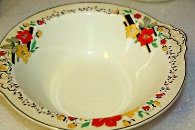 J & G Meakin bowl 391513 large bowl autumn theme made England vintage pottery