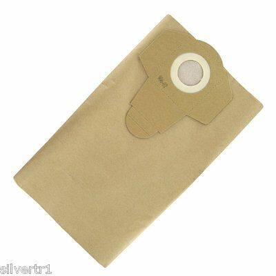 25 x Silverline 806719/675260 Wet & Dry Vac/Dust Extractor Bags+FREE Dry Filter.