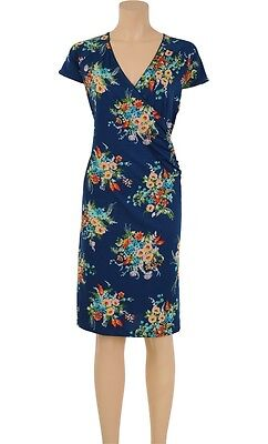 KLEID King Louie Cross Dress Lennox blau schwarz floral verspielt 03502
