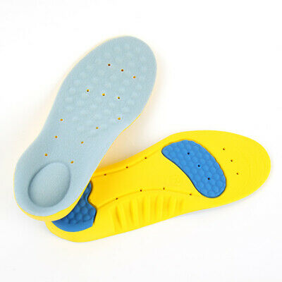 Men Gel Orthotic Sport Running Insoles Insert Shoe Pad Arch Support Cushion New