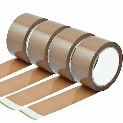 STRONG PACKING TAPE - BROWN / CLEAR /  50mm x 66M Rolls PARCEL TAPE