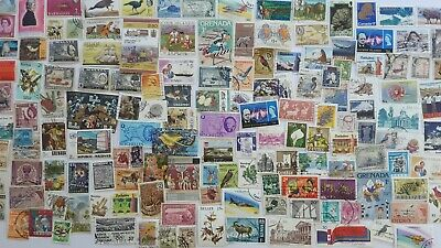 500 Different British Commonwealth all periods no GB Stamp Collection
