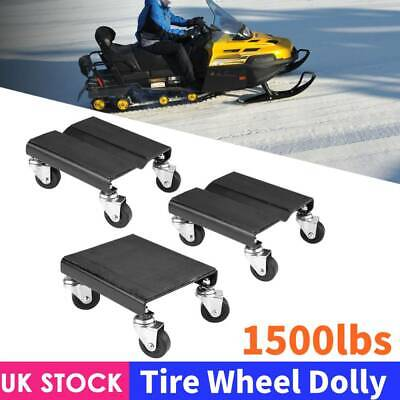 3Pcs Tire Car Wheel Dolly Auto Repair Snowmobile Moving Dollies 1500lbs Set UK