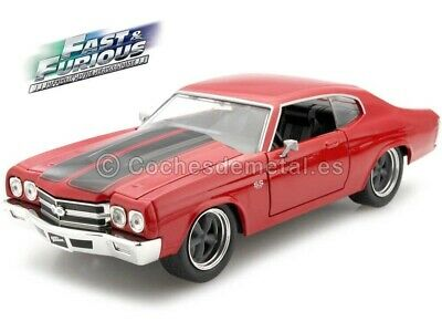 """1970 Chevrolet Chevelle """"Fast & Furious"""" Red 1:24 Jada Toys 97193"""