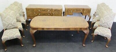 Burr Walnut Complete Dining Suite Superb Quality Fully Re Finished C1920