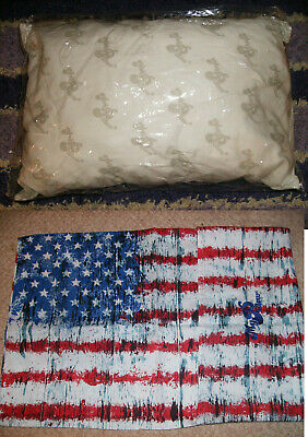 """2 PC GO ANYWHERE MY PILLOW & USA CASE 12"""" x 18"""" WASH & DRY AS SEEN ON TV TRAVEL"""