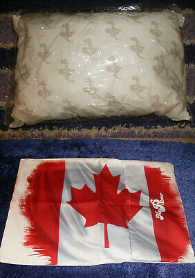 """2PC GO ANYWHERE MY PILLOW & CANADA CASE 12 x 18"""" WASH & DRY AS SEEN ON TV TRAVEL"""
