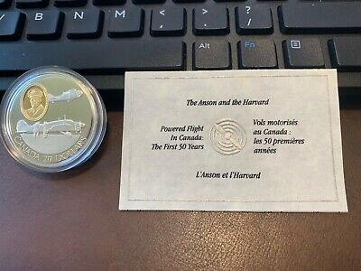 1990 Canada 20 Dollars Sterling Silver Coin Set - The Anson And The Harvard