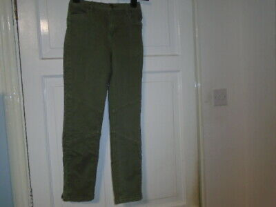 Khaki green skinny leg jeans trousers, RIVER ISLAND, 12 years, suit boy or girl