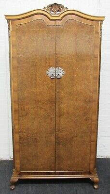 Burr Walnut Queen Anne Fitted Wardrobe Fully Re Finished Circa 1920