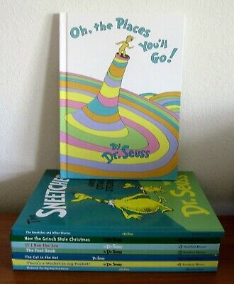 Lot Of 8 Large Dr Seuss Books Sneetches, Cat In Hat, Foot, Ran The Zoo, Thidwick