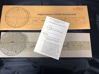 Vintage Weems-Zweng Nautical Miles Course Protractor Weems & Plath Complete