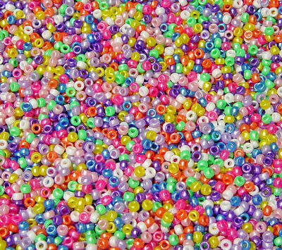 Ivory color 7mm Mini Barrel Pony Beads 1000pc made in USA school crafts VBS Kids