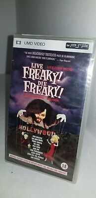 Neuf Usine Scellé Live Freaky Die Freaky UMD Mini Disque Film pour Psp Système