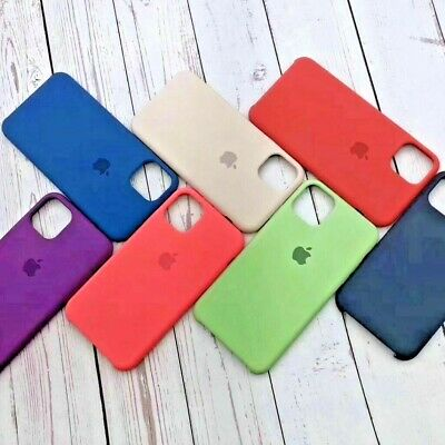 Cover Custodia Silicone Originale Apple Iphone11,11Pro,11Pro Max+Pellicola Vetro