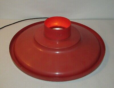 Vintage Union Blow Mold Lighted Red Base w/C7 Bulb & Cord