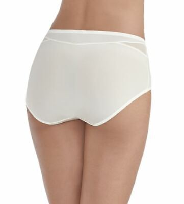 Size 7 Vanity Fair 13186 Brief Breathable Luxe Panties Coconut White NEW Insets
