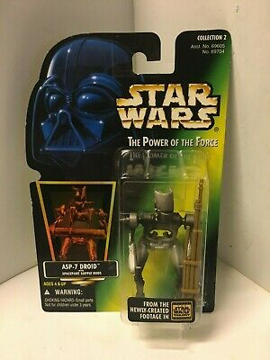 1997 Star Wars The Power of the Force POF ASP-7 Droid Robot Figure Kenner