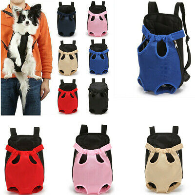 Adjustable Pet Cat Puppy Dog Carrier Front Pack Hiking Backpack Head Legs Out US