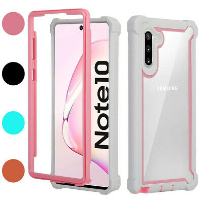 For Samsung Galaxy Note 10/Plus Heavy Duty Rugged Bumper Clear Back Phone Case